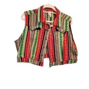 Hippie Plus Bohemian Summer Cropped Vest